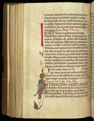 Historiated Initial With The Symbol Of St. John The Evangelist, In 'The Sherborne Cartulary'